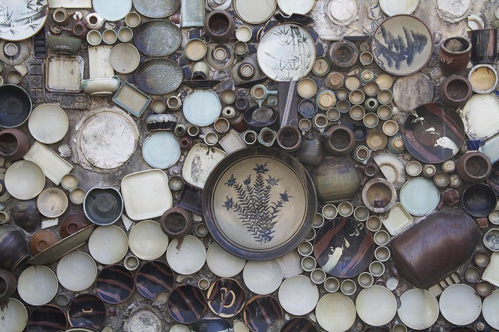 Mashiko pottery wall