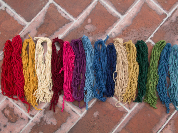 natural dyes indigo cochineal marigold wool